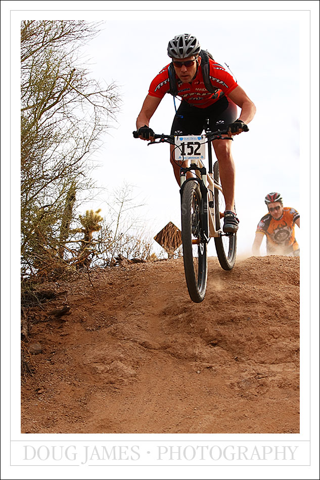 The Dust Devil mountain bike race held at McDowell Mountain park