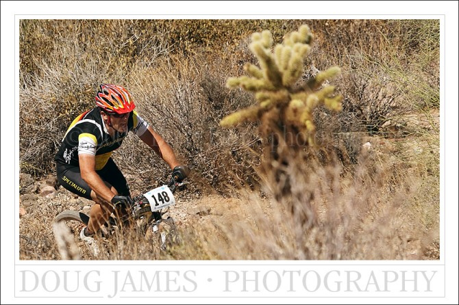 Racers felt the burn during the Dust Devil mountain bike race held at McDowell Mountain park