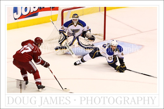 NHL Hockey: St. Louis Blues at Phoenix Coyotes