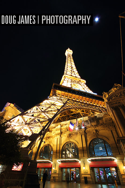 Paris Las Vegas hotel and Casino with it's replica Eiffel Tower