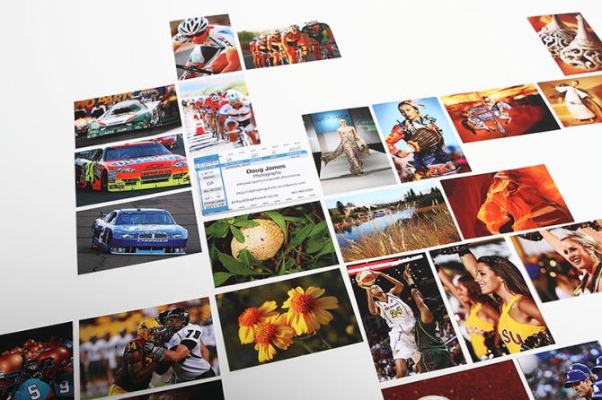 Doug James Photography business cards