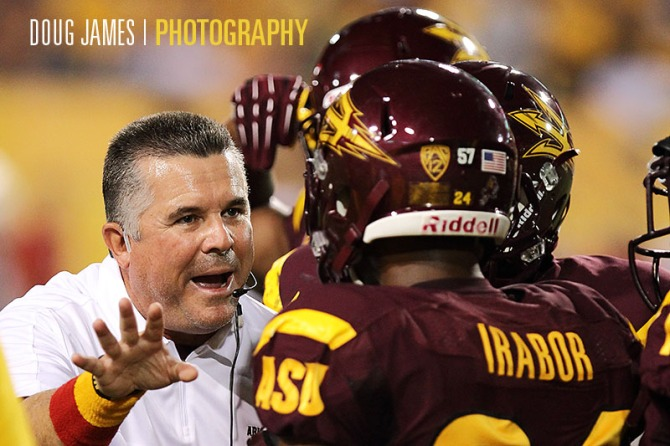 NCAA FOOTBALL: SEP 22 Utah at Arizona State